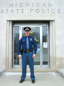 NEW POST COMMANDER—Chris McIntire began his trooper career at the Rockford State Police Post. Now he has returned as commander.