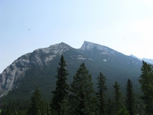 The picture says it all.  Saddleback Mountain near Banff AL.