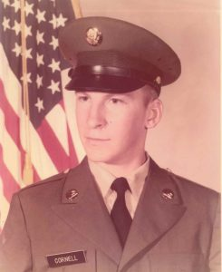 """Charles """"Chuck"""" Cornell served in the U.S. Army from 1975-1979."""